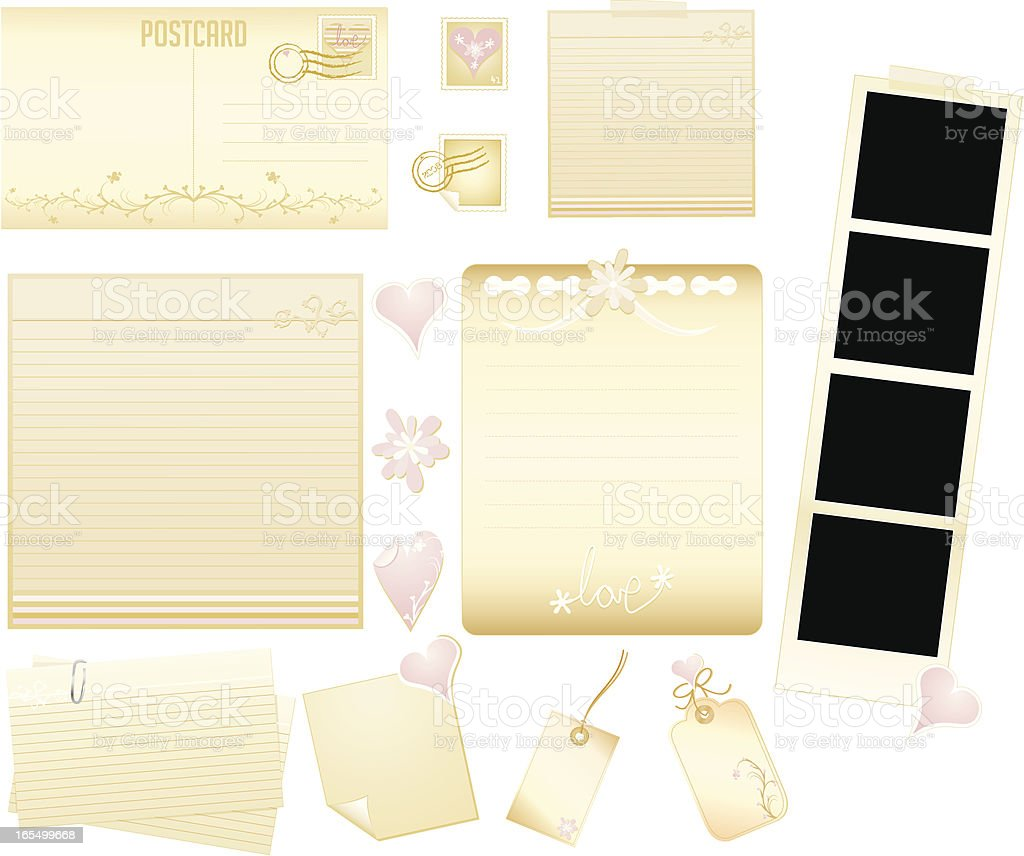 Valentine Stationery Set royalty-free stock vector art