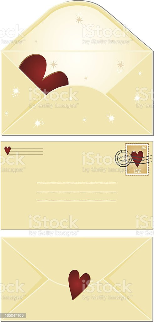 Valentine Surprise x 3 royalty-free stock vector art