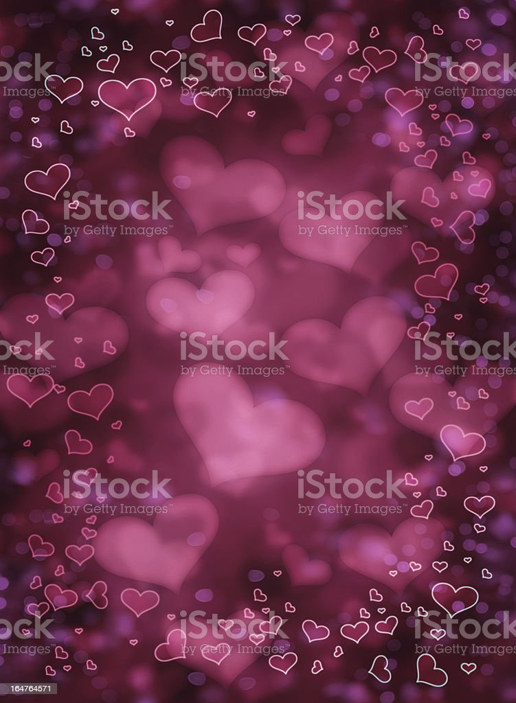 Valentines background with heart silhouette royalty-free stock vector art