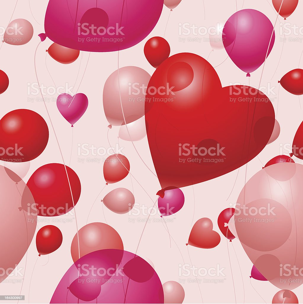 Valentines Day Balloons royalty-free stock vector art