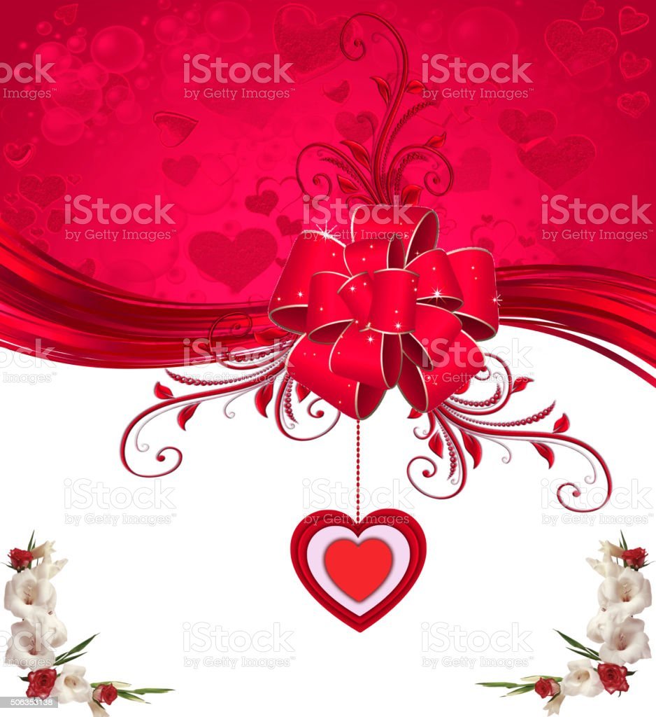 Valentine's Day card vector art illustration