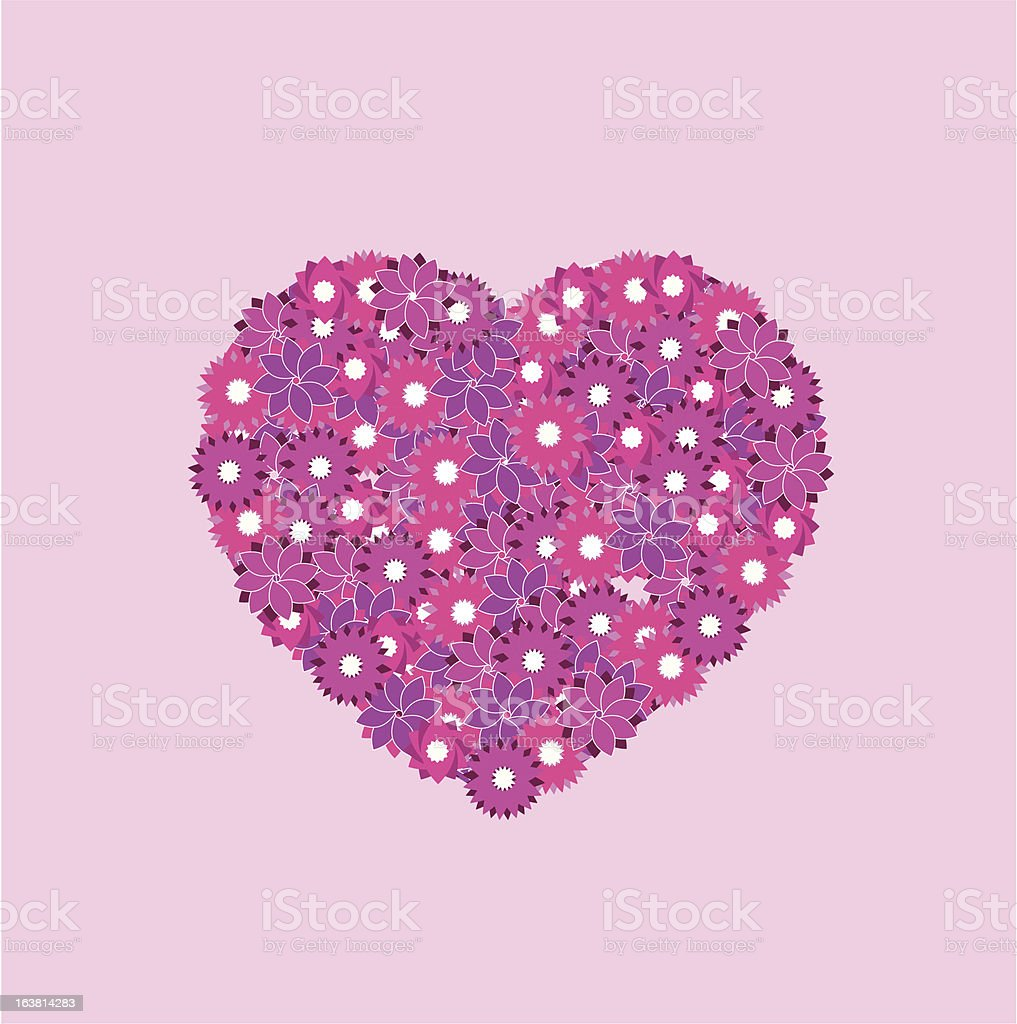 Valentines Day Heart of Flowers royalty-free stock vector art