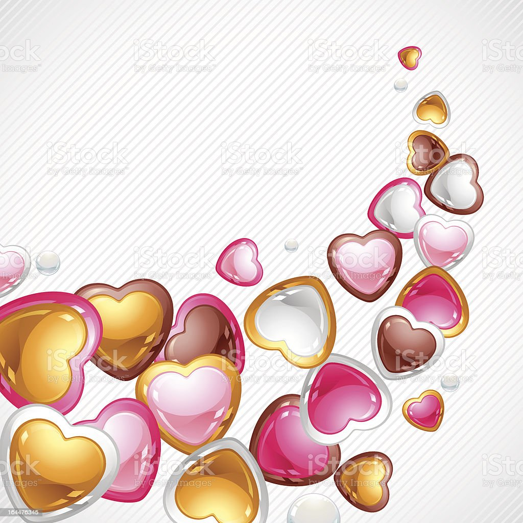 Valentine's Day vector background. Gift card and flyer. royalty-free stock vector art