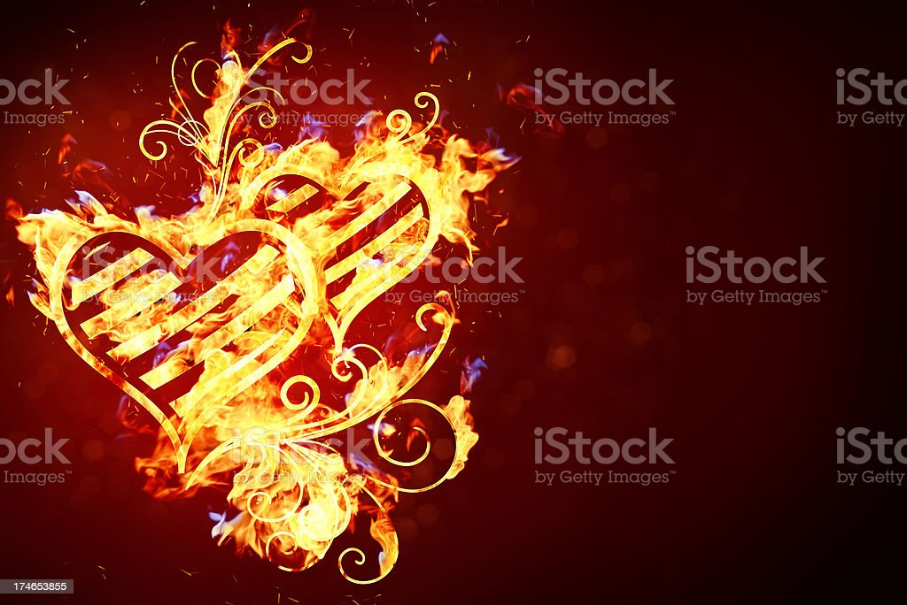 Valentines fire background royalty-free stock vector art
