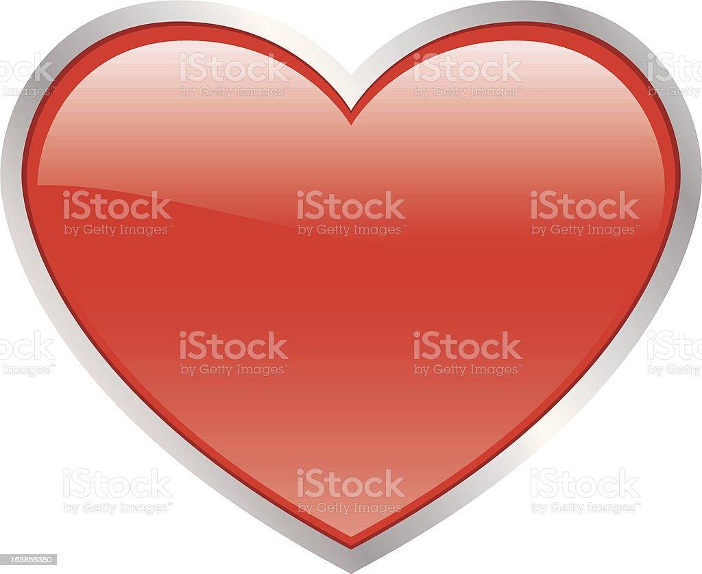 Valentine serca stockowa ilustracja wektorowa royalty-free