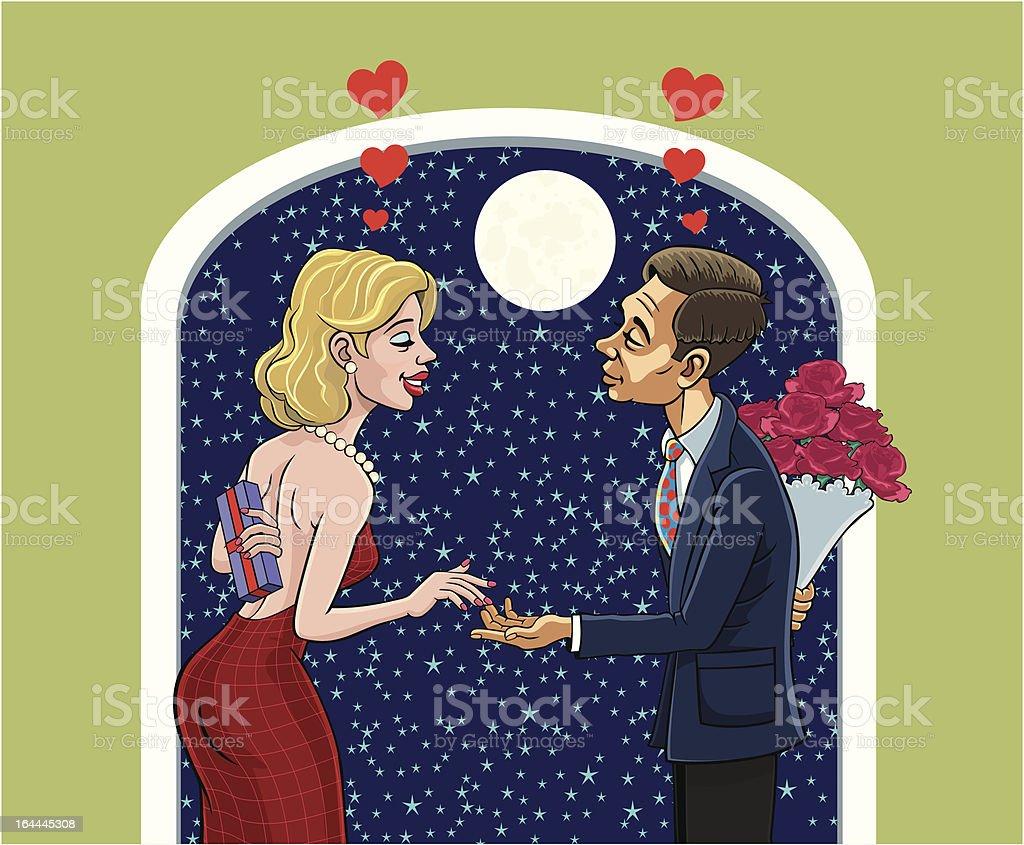 Valentines vector art illustration