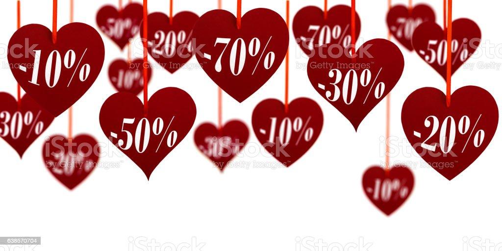 valentine's sale vector art illustration