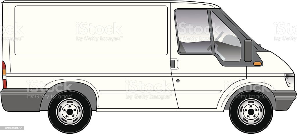 Van vector art illustration