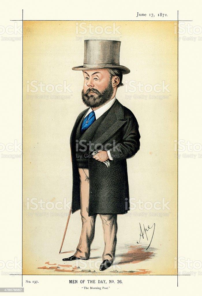 Vanity Fair Print of Algernon Borthwick, 1st Baron Glenesk vector art illustration