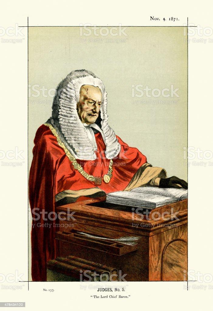 Vanity Fair Print of Sir Fitzroy Edward Kelly vector art illustration