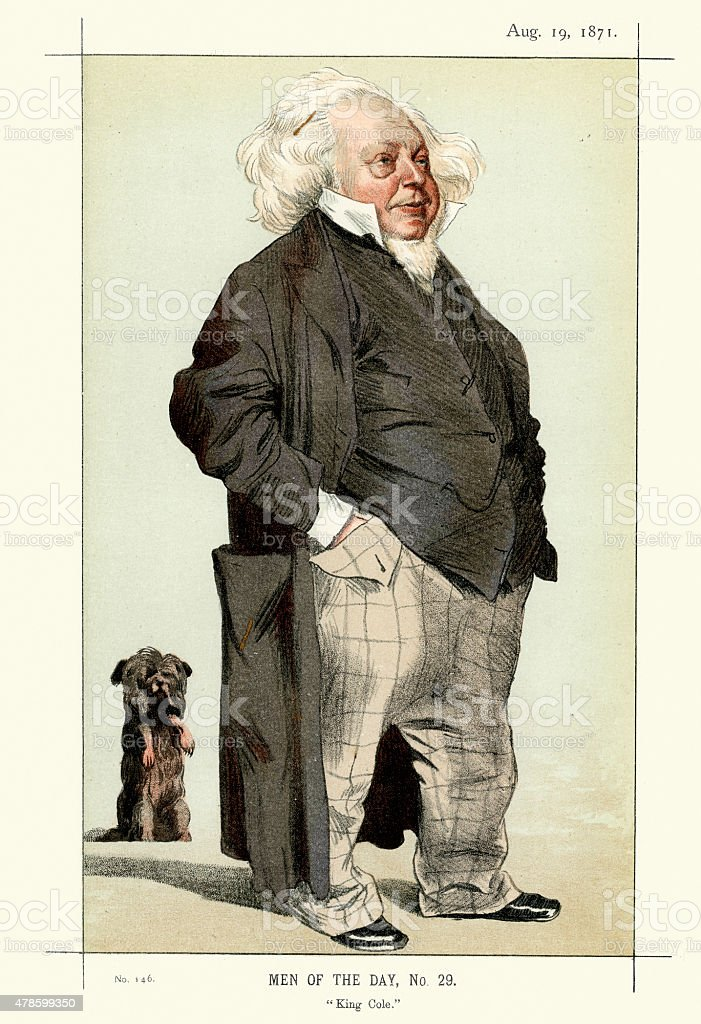 Vanity Fair Print of Sir Henry Cole vector art illustration