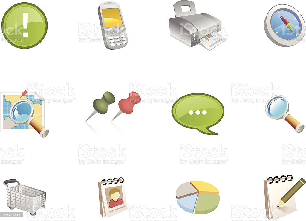 Varico  Icons | Set  3 royalty-free stock vector art