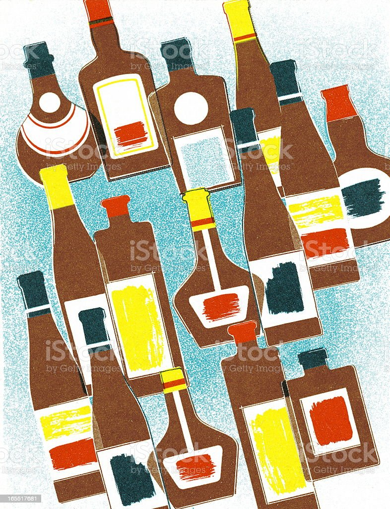 Variety of Bottles royalty-free stock vector art