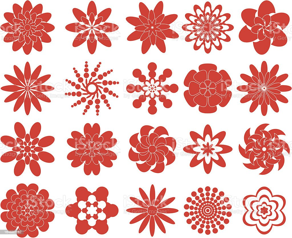 Various flowers for design royalty-free stock vector art