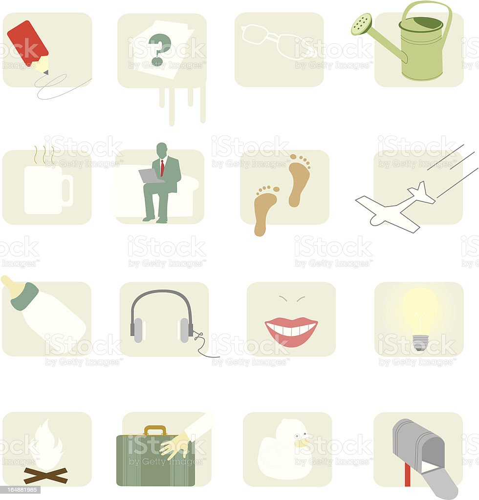 various items1 royalty-free stock vector art