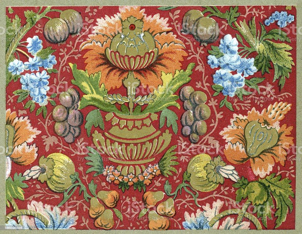 Vase Pattern - 17th Century royalty-free stock vector art