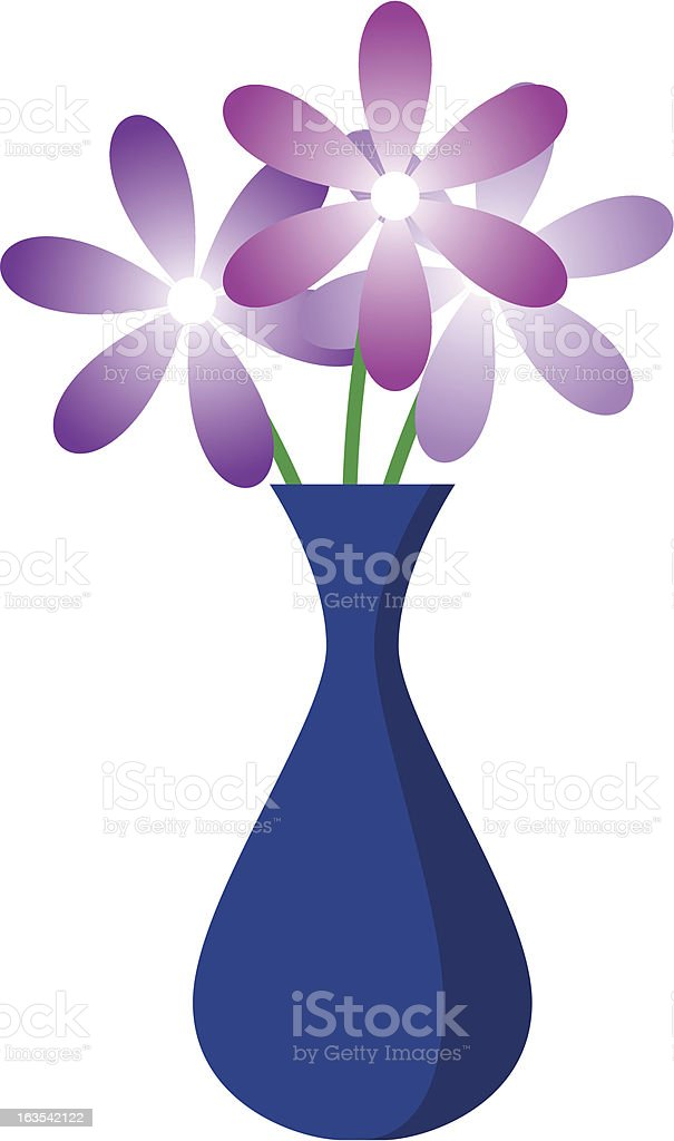 Vase with Flowers royalty-free stock vector art