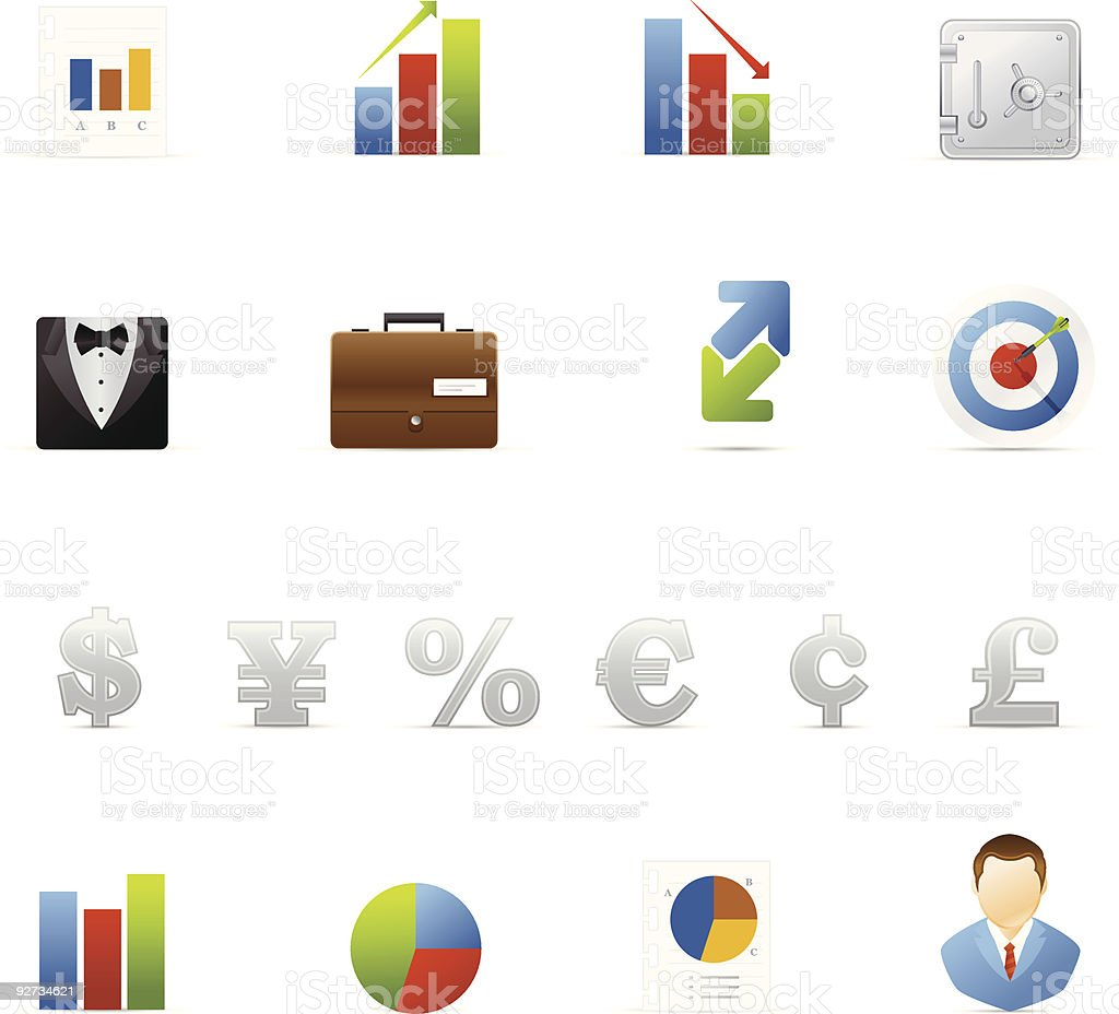 Vecto icon set - Business and Finance royalty-free stock vector art