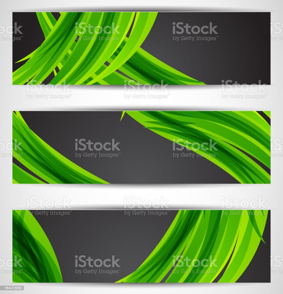Vector abstract art banners royalty-free stock vector art
