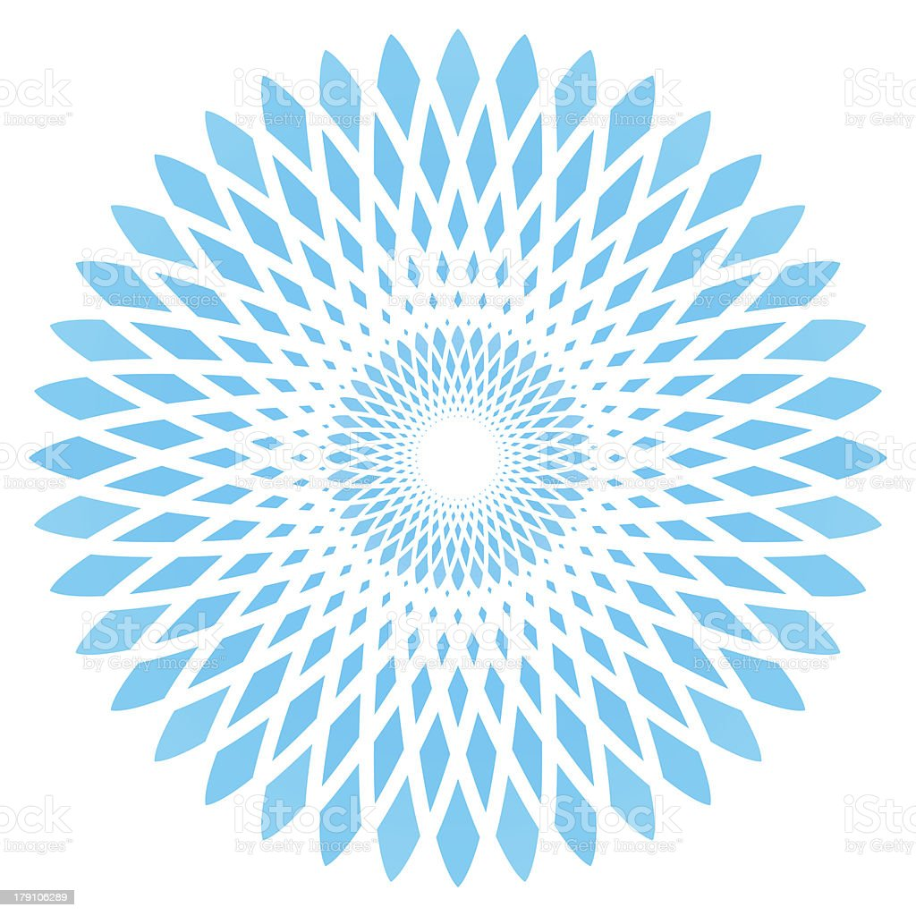 vector abstract blue circle flower royalty-free stock vector art