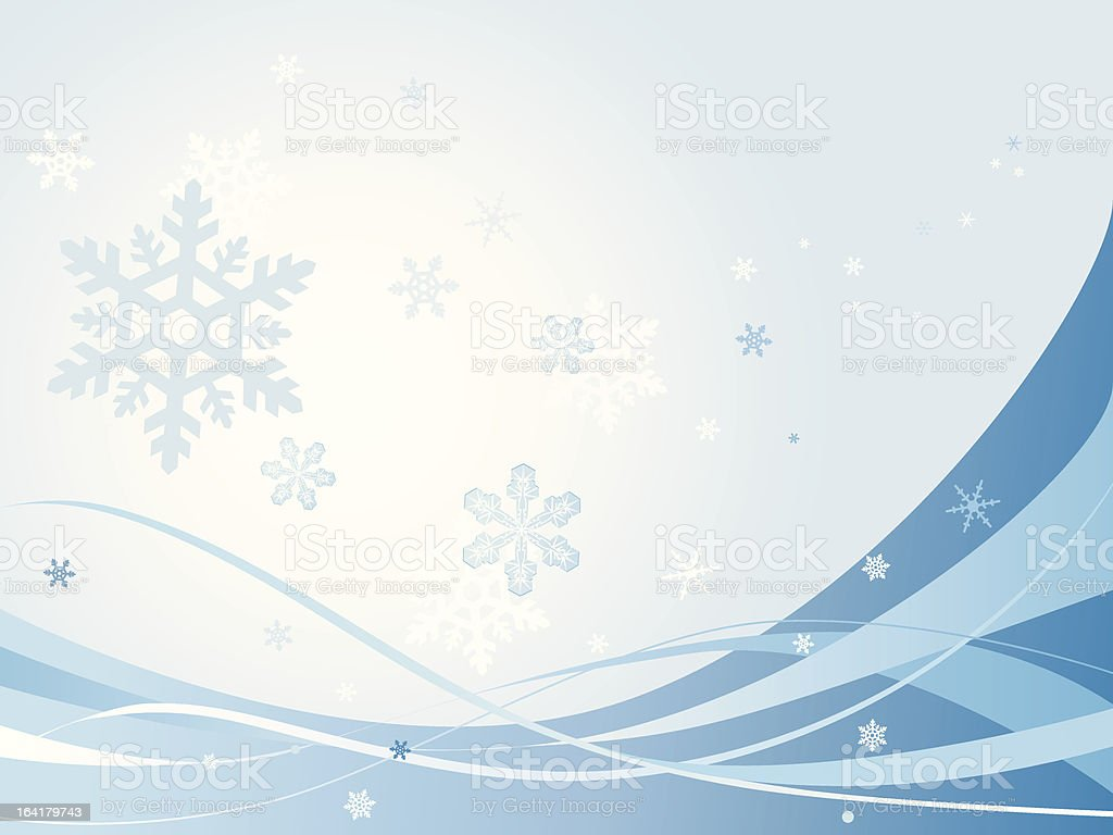 Vector abstract snowflakes background royalty-free stock vector art