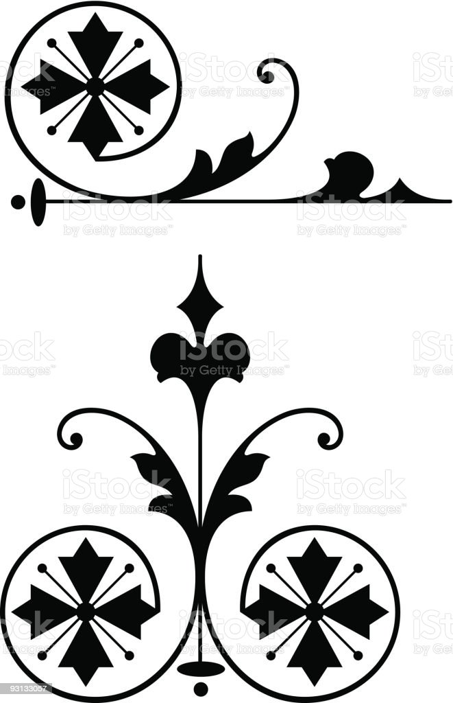 Vector Accent3-12504 royalty-free stock vector art