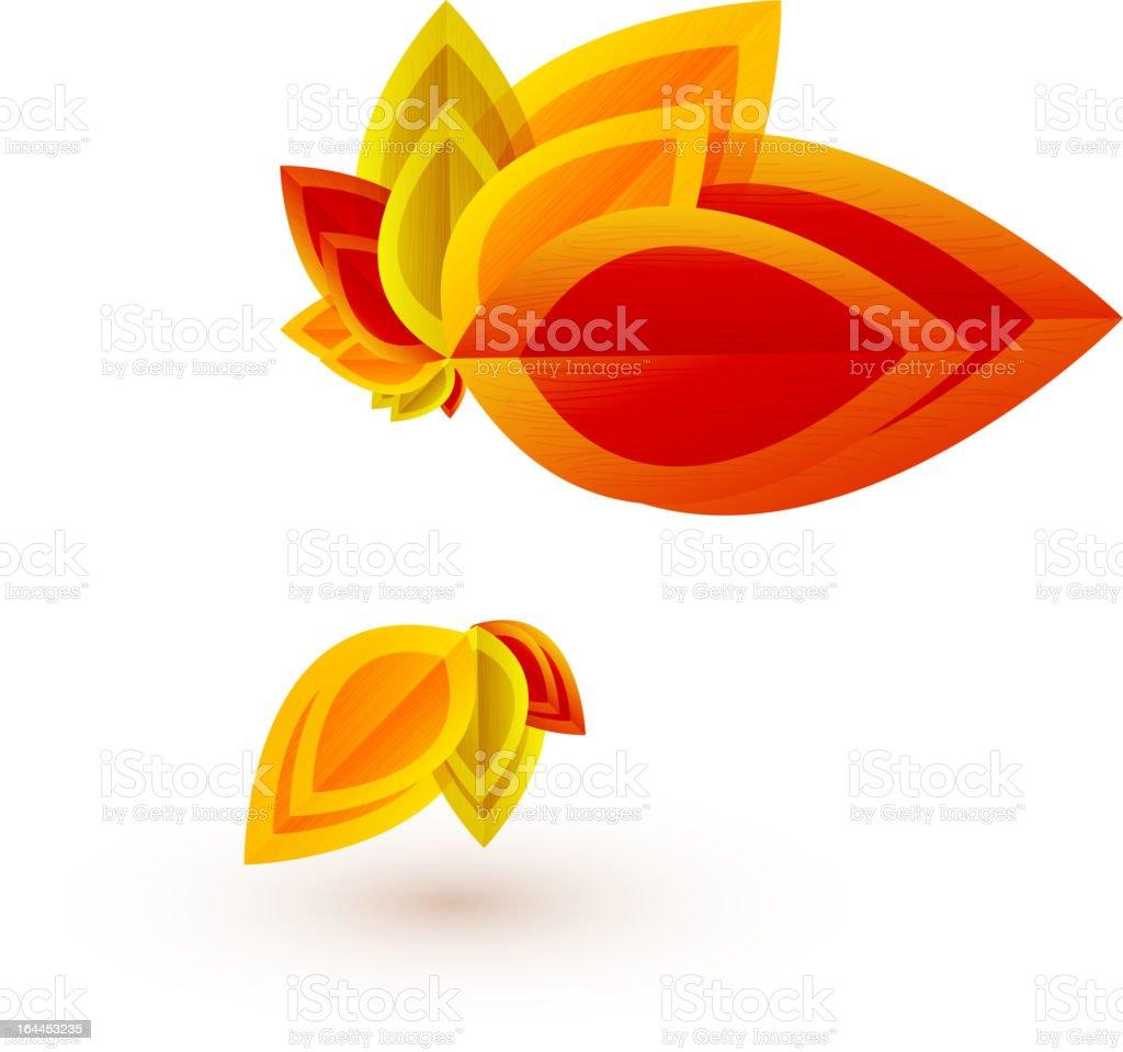 Vector autumn leaves icons vector art illustration