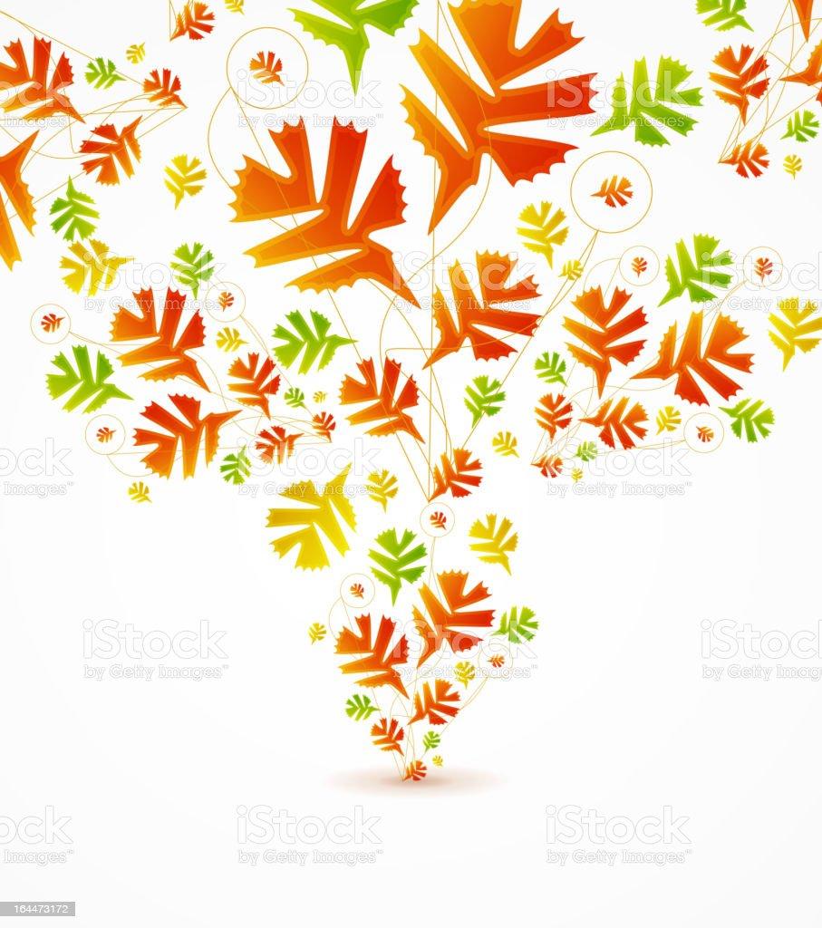 Vector autumn tree royalty-free stock vector art