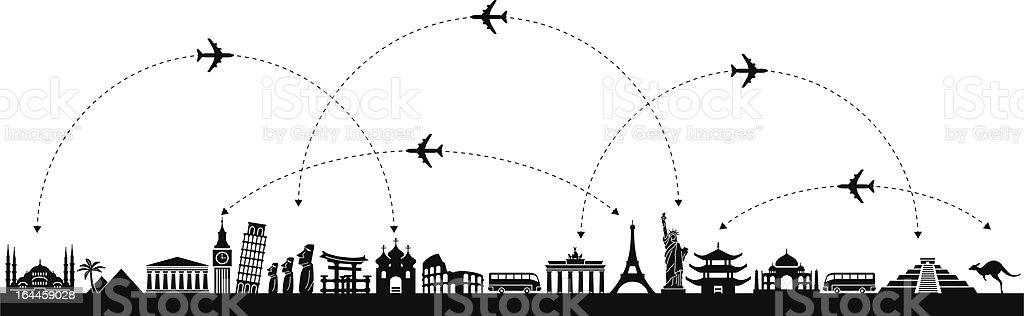 Vector  Background Travel vector art illustration