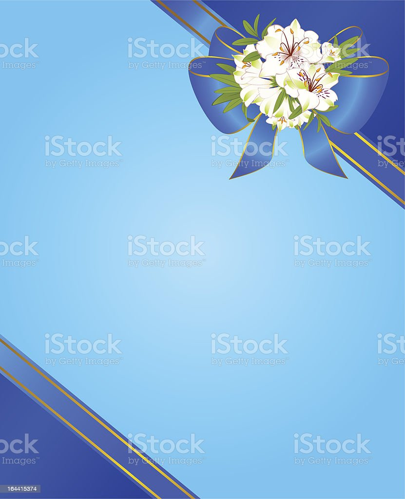 Vector background with flowers in bow royalty-free stock vector art