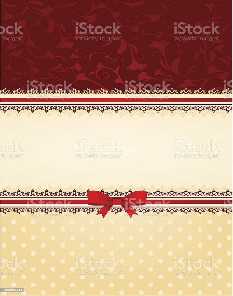 Vector background with lace and bow royalty-free stock vector art