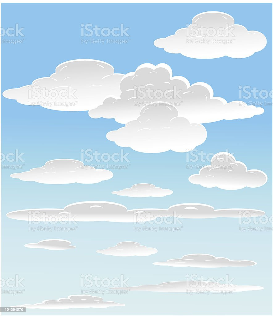 vector background with sky. royalty-free stock vector art