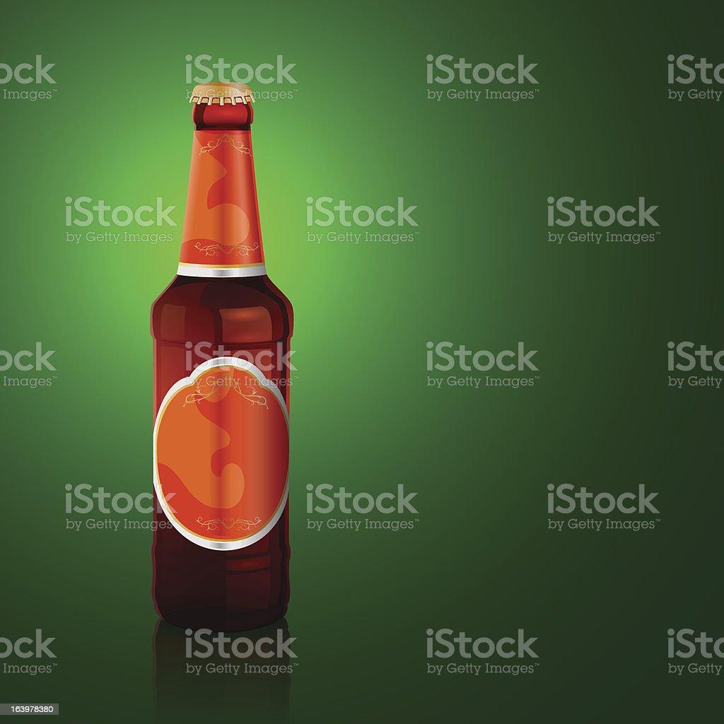 Vector beer bottle royalty-free stock vector art