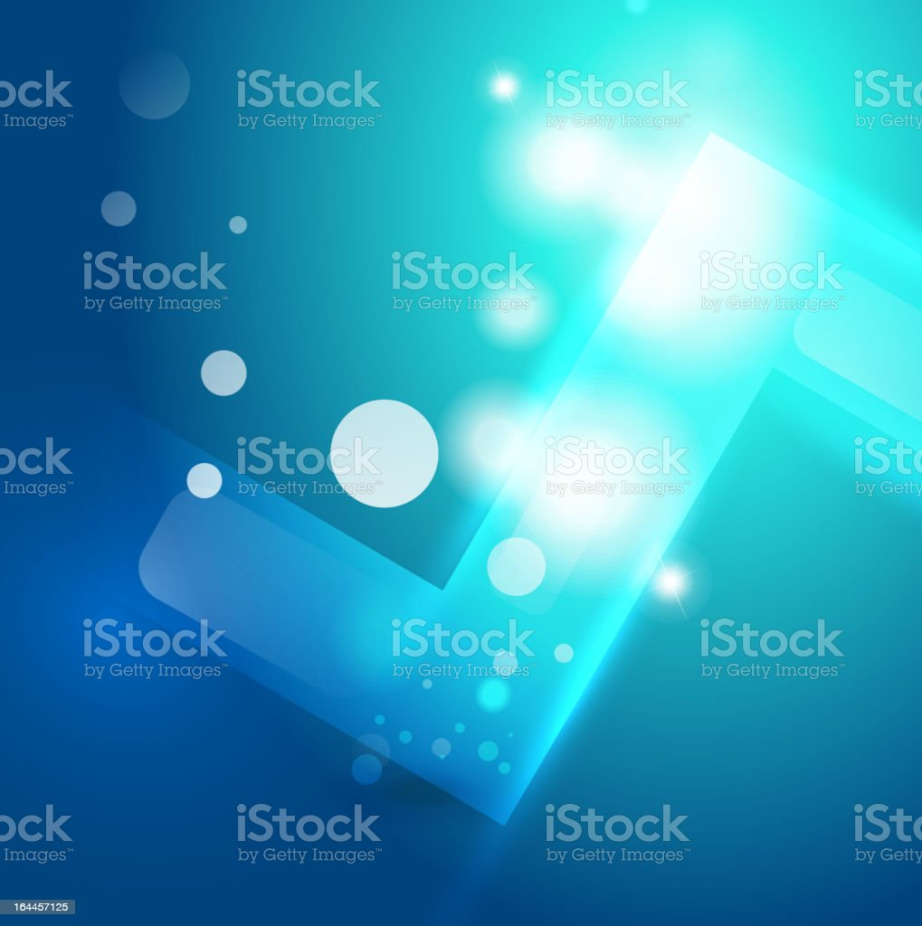 Vector blue energy background royalty-free stock vector art