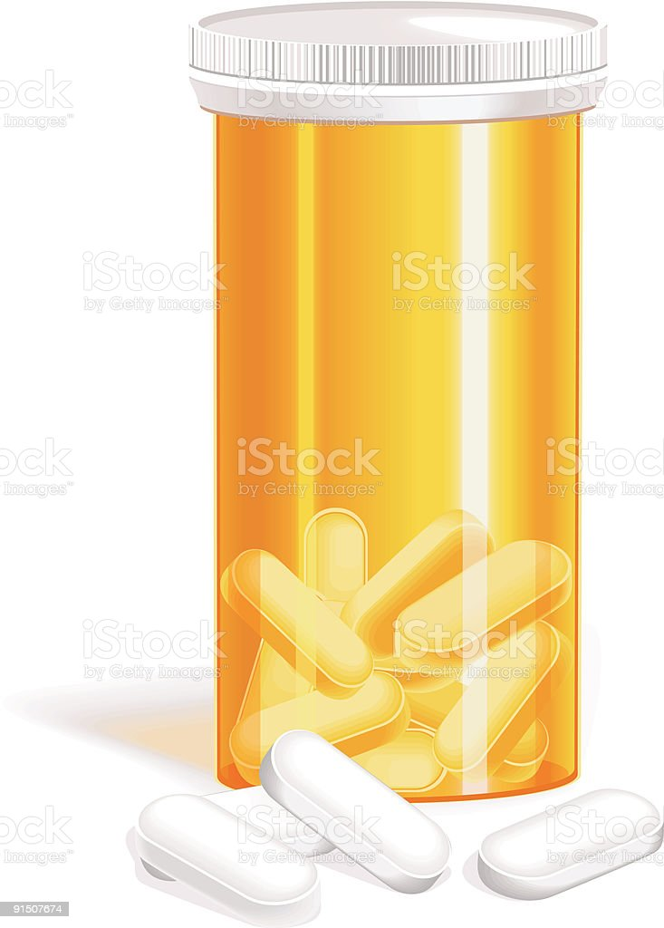 Vector bottle of pills royalty-free stock vector art