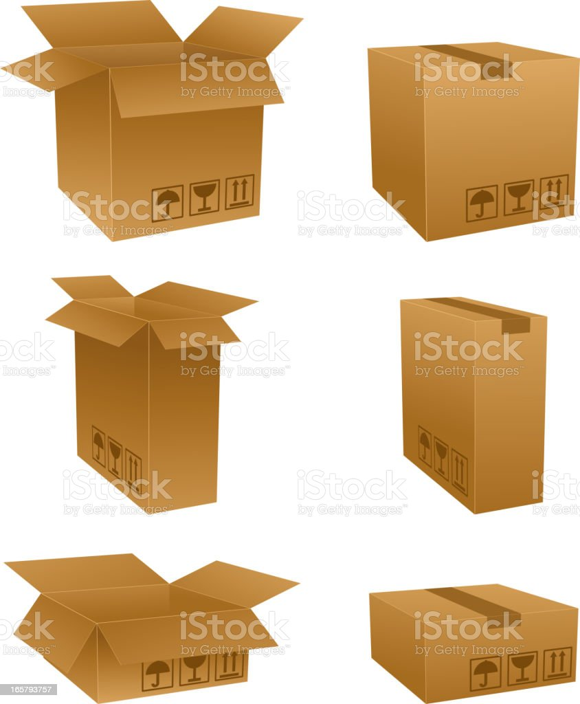 Vector box icons royalty-free stock vector art