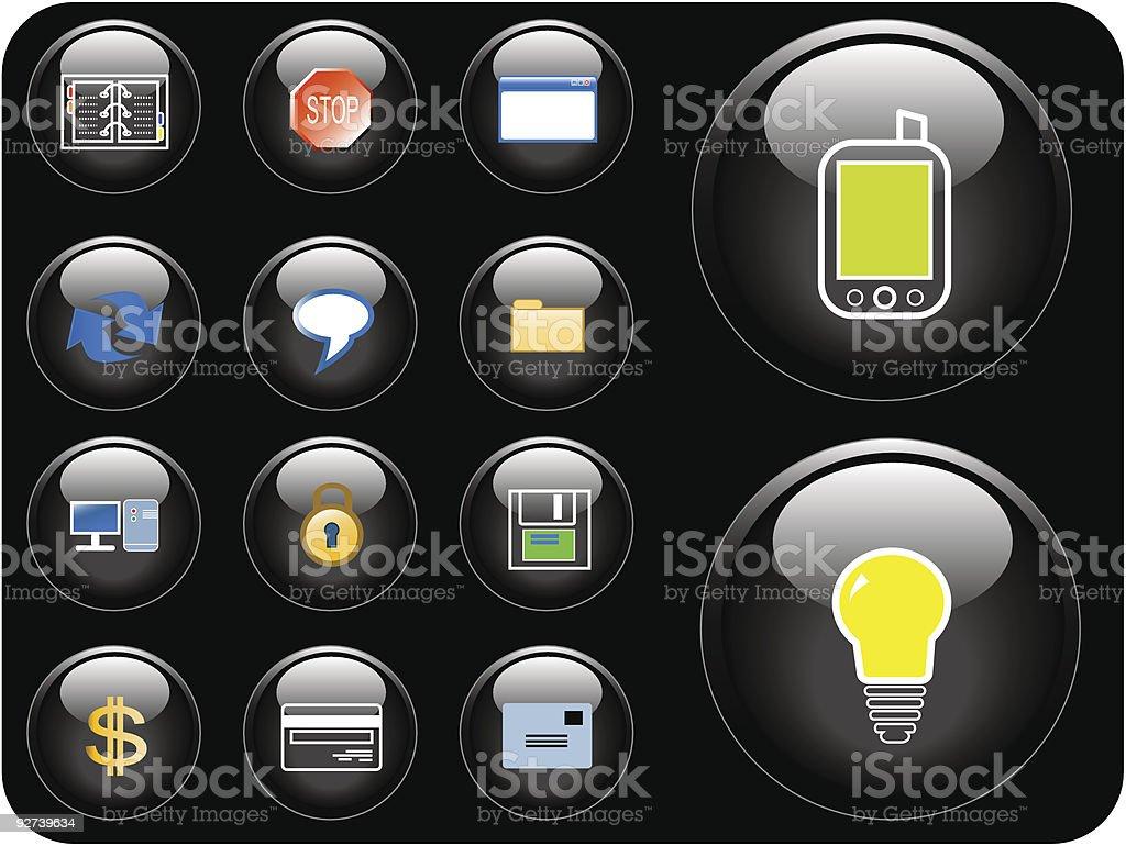 Vector Buttons royalty-free stock vector art