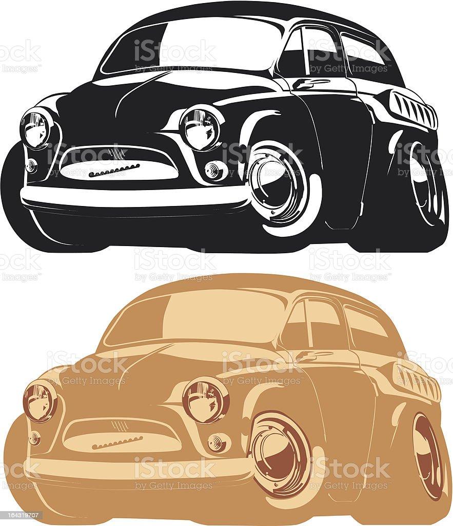 Vector cartoon retro car royalty-free stock vector art