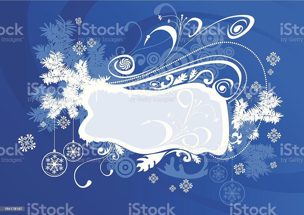 vector christmas frame blue royalty-free stock vector art