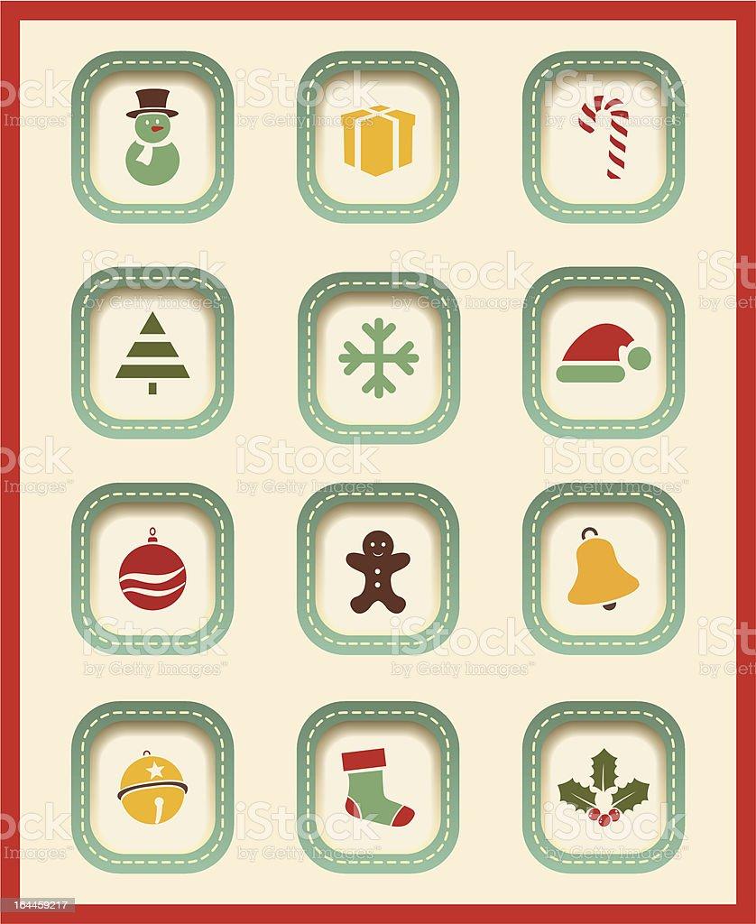 Vector Christmas icons. royalty-free stock vector art