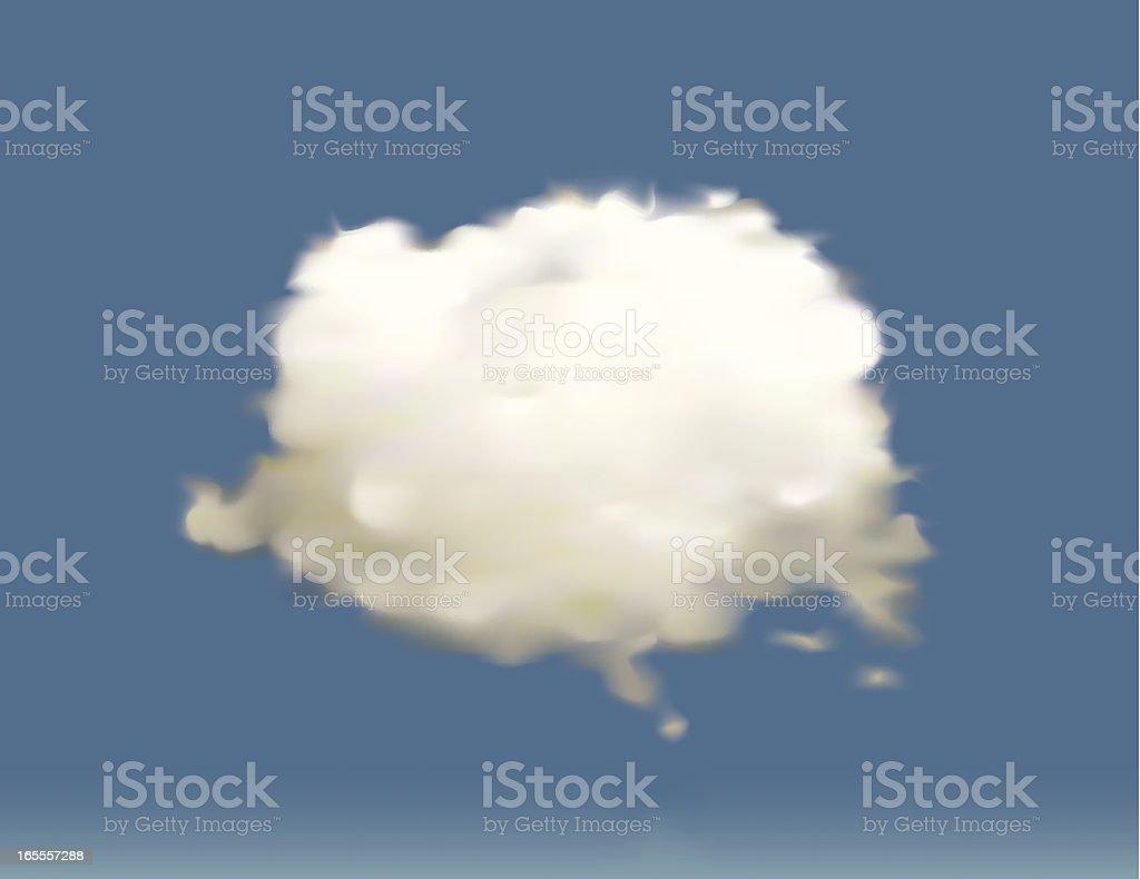 Vector Cloud vector art illustration