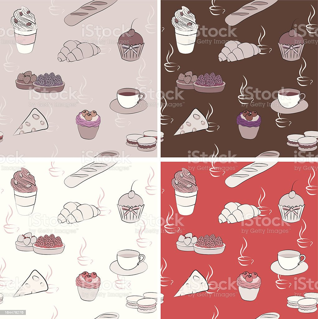 Vector coffee seamless. background pattern royalty-free stock vector art