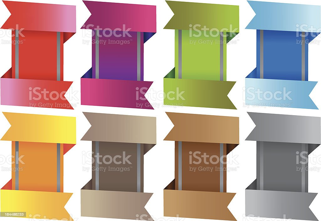 Vector colorful labels royalty-free stock vector art