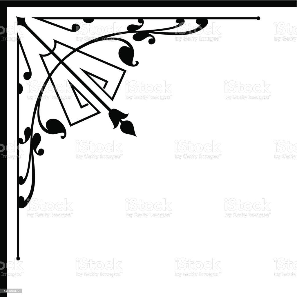 Vector Corner 3-13006 royalty-free stock vector art