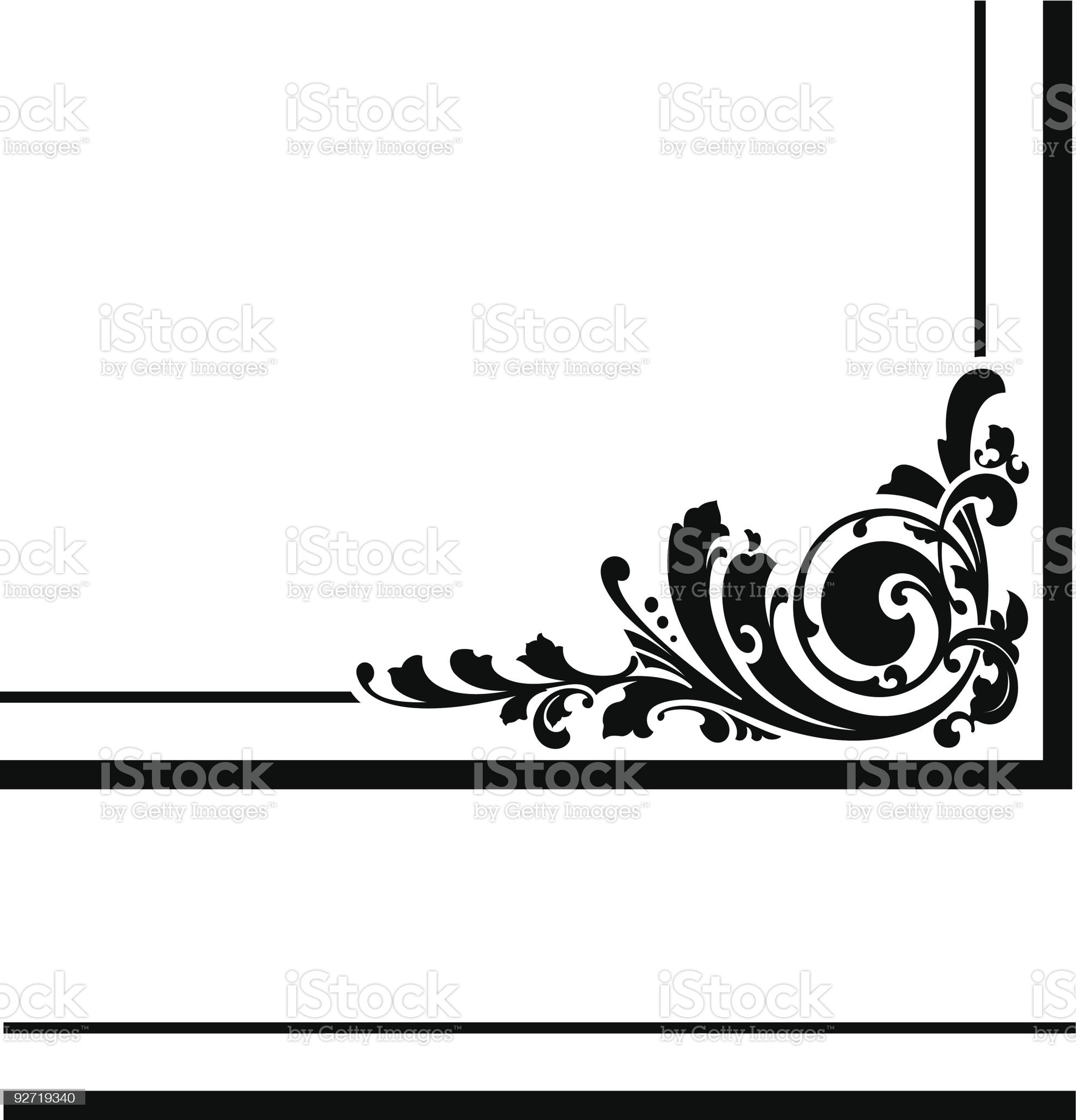 Vector Corner Design royalty-free stock vector art