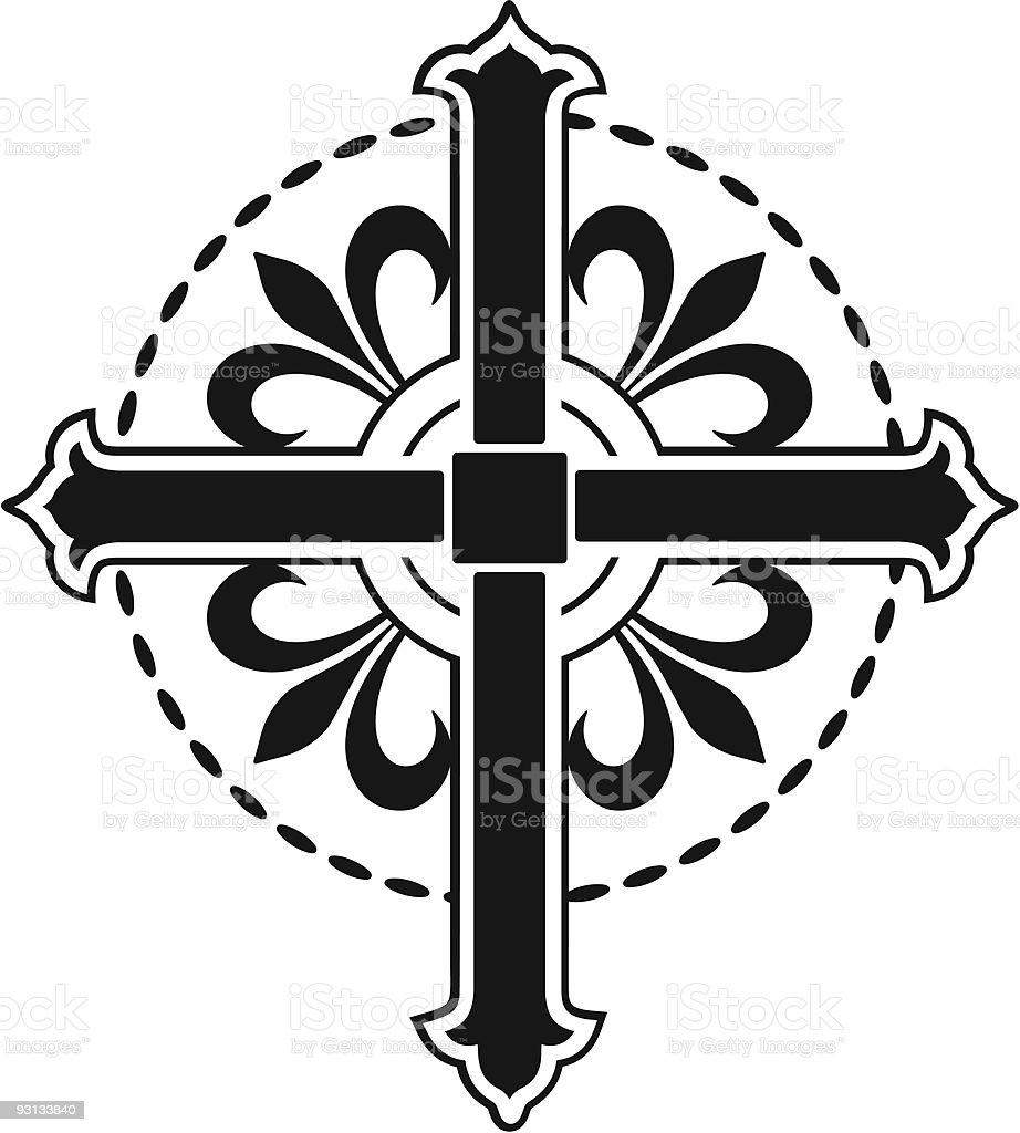 Vector Cross / Crucifix royalty-free stock vector art