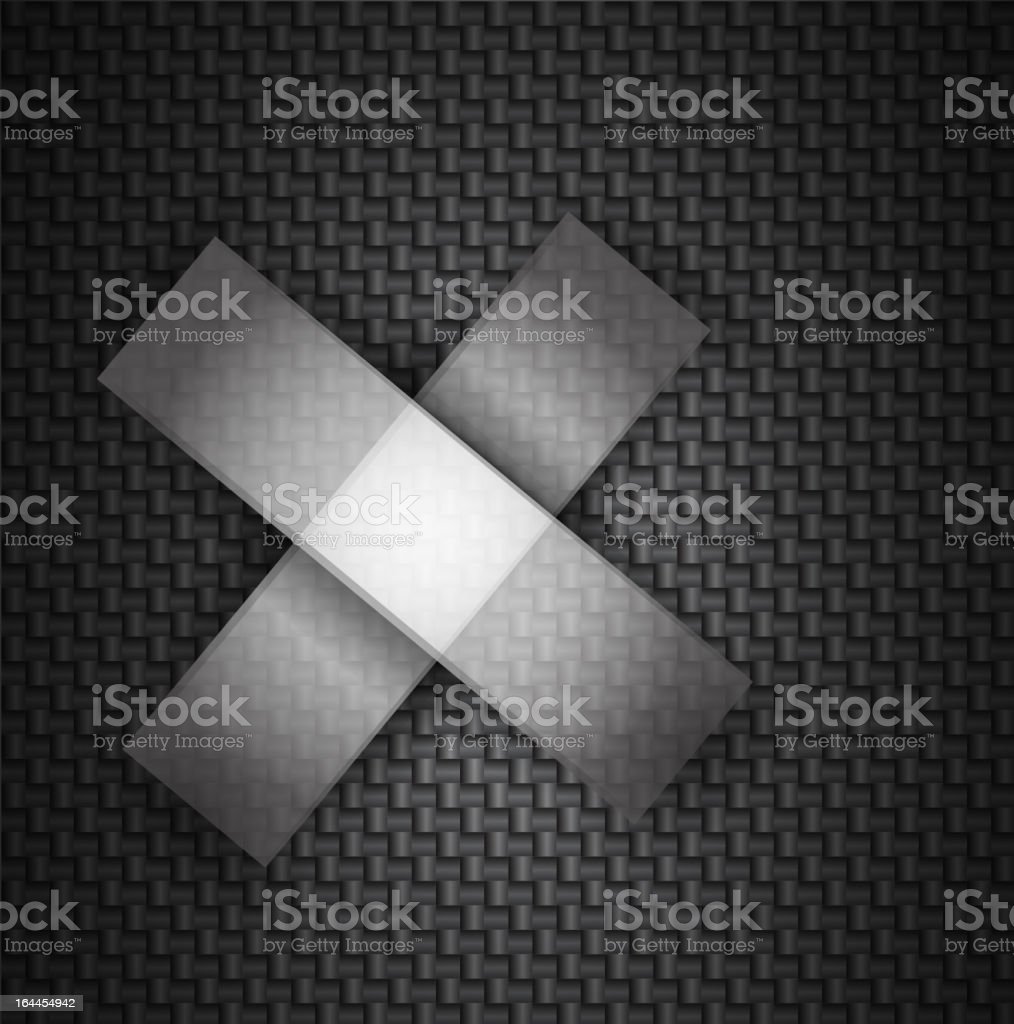 Vector crossed sticky tapes on textured background royalty-free stock vector art