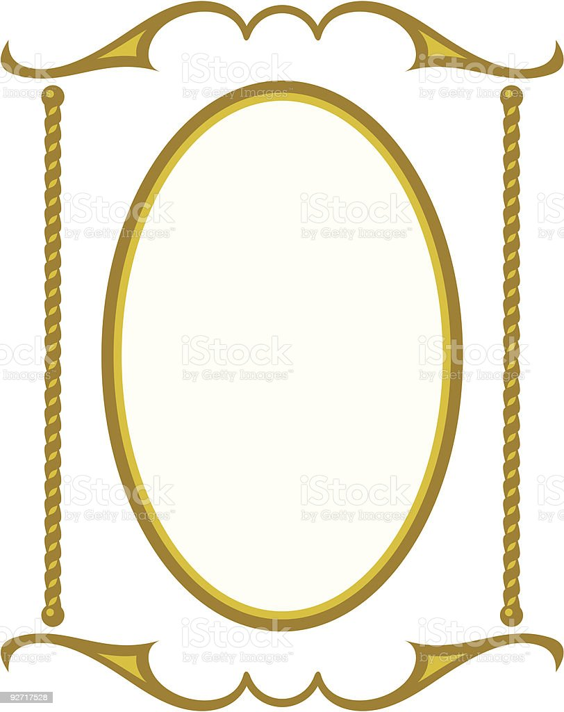 Vector decorative frame royalty-free stock vector art