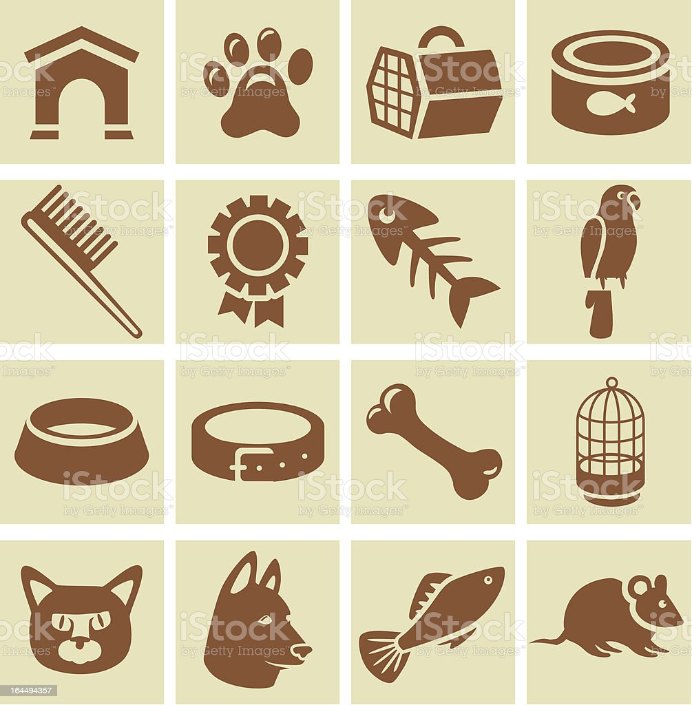 Vector design elements for veterinary royalty-free stock vector art