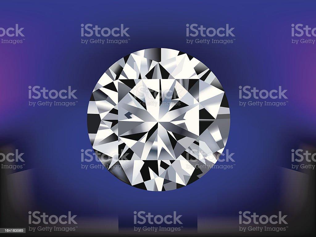 Vector diamond in detail royalty-free stock vector art